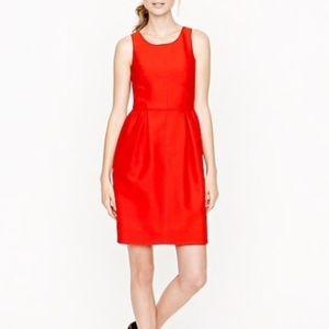 J. Crew red allie dress